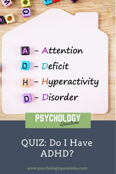 This a free quiz designed to see if you need to seek a healthcare professional about ADHD. This is only a tool but can help you take the next step in self-care. (ADD) Attention Deficit Disorder and (ADHD) Attention Deficit Hyperactive Disorder can cause difficulting concentrating, focus, memory, staying still, and staying organized. #ADHD #Psychologyquiz #psychologyblog #psychologyquestions #psychologyarticles #psychologyadvice #selflove #theraphy #personalgrowth #mentalhealth Psychology Quiz, Psychology Questions, Do I Have Adhd, Health Tips, Health Care, Quiz Design, Attention Deficit Disorder, Staying Organized