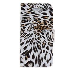 Leopard Print PU Full Body Case med kort slot og står for iPhone 5/5S (assorterede farver) – DKK kr. 62
