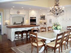 Yellow Traditional Kitchen - Kitchen Islands With Seating: Pictures & Ideas From HGTV : Rooms : Home & Garden Television