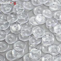 10mm Kunststoff Nähen Knöpfe Scrapbooking 2 loch Klare schwarze Weißes Hemd Decrative Groß Taste Nähen Handwerk Zubehör
