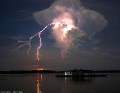 Catatumbo lightning occurs only over the mouth of the Catatumbo River in Venezuela where it empties into Lake Maracaibo. Warm and cold fronts meet creating the perfect condition for this lightning. Add nearby marshes emitting methane gas which in turn improve the electrical conductivity of the clouds and voila! You've got one badass atmospheric phenomenon