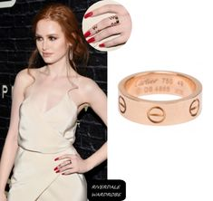 Prive Revaux Eyewear Launch: Madelaine's Ring Cartier Wedding Rings, Cartier Love Ring, Cartier Jewelry, Pink And Gold, Rose Gold, Madelaine Petsch, Keep It Classy, Pretty Little Liars, Cheryl