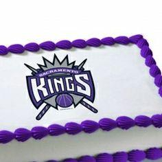 Have a Happy Birthday with the #SacramentoKings NBA Sacramento Kings Edible Image Cake Decoration #ForeverPurple