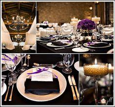 Wedding, Reception, Purple, Black