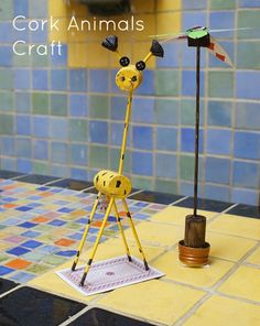 pictures uses for corks | Cork Animals Craft Idea | Go Graham Go