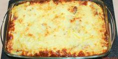 cartofi gratinati la cuptor cu oua, branza , cascaval ,sunca si smantana Desert Recipes, I Foods, Lasagna, Meal Planning, Deserts, Food And Drink, Appetizers, Cooking Recipes, Yummy Food