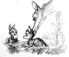 Bambi thumper concept art