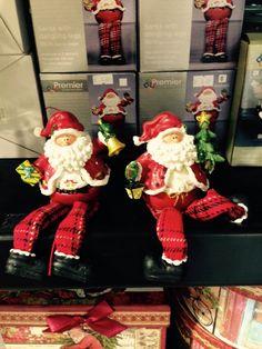 Santa statue with bendy legs