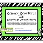 This is a cute way to display your standards or homework for each subject area. This is themed with Zebra print. ...