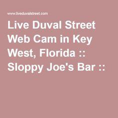 Live Duval Street Web Cam in Key West, Florida :: Sloppy Joe's Bar ::