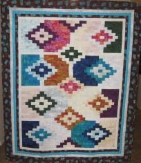 "Santa Fe Breeze Quilt, 50"" by 62"" - Beautiful Southwest colors"