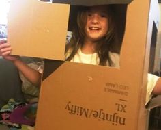 A box makes for a whole weekend of play Rat Race, Two Daughters, 9 Year Olds, Live In The Now, Working Moms, 15 Years, Parenting, Wellness, Play