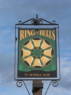 Ring of Bells Pub Sign, Bishopsteignton, Devon