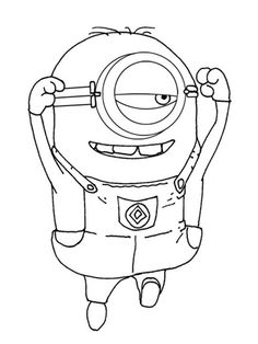 bob from minions coloring pages. In the third film entitled 'Minions', the prequel of the two previous films, tells the beginning of the presence of the minions on earth. Minion Coloring Pages, Disney Coloring Pages, Coloring Pages To Print, Free Printable Coloring Pages, Coloring Book Pages, Coloring Pages For Kids, Coloring Sheets, Naughty Kids, Minions Despicable Me