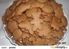 Perníčky - měkké bez čekání recept - TopRecepty.cz Xmas Cookies, Healthy Diet Recipes, Christmas Sweets, Nutella, Sweet Recipes, Cookie Recipes, Petra, Gingerbread, Sweet Tooth