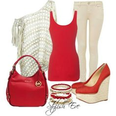 Cute red outfit