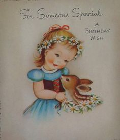 Birthday card Made from a vintage card