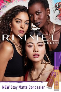 Get instant, flawless coverage with Rimmel London's NEW Stay Matte Concealer. Available in 20 creamy shades that match of skin tones. Face Paint Makeup, Kiss Makeup, Cool Hairstyles For Girls, Girl Hairstyles, Scar Remedies, Skin Shine, Top Braid, Lip Balm Tubes, Ethnic Hairstyles