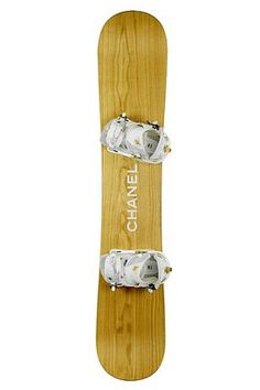 chanel AND wood work snowboard?! yes please!!! Someone get me this and make me the happiest meggy ever!