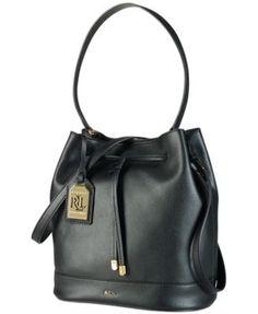 Lauren Ralph Lauren Crawley Drawstring Hobo Handbags   Accessories - Macy s 9b667b4c1d73c