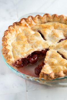 Easy Cherry Pie Recipe from www.inspiredtaste.net #recipe #pie