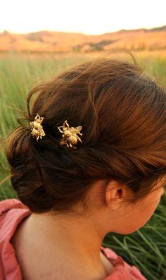 Honeybee hair pins