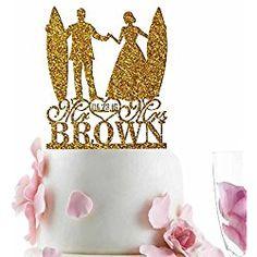 Groom Bride Surfer Personalized Wedding Cake Topper Last Name Date Glitter Surfer Wedding, Personalized Wedding Cake Toppers, Wedding Cakes, Groom, Birthday Cake, Beach Weddings, Make It Yourself, Bride, Glitter