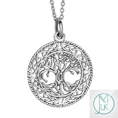 Tree of Life Charm 925 Solid Sterling Silver Pendant Necklace - michaelaukjewelry - 1