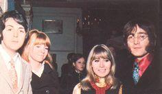 Grapefruit Party January 18, 1968 - Paul McCartney & Jane Asher with Cynthia…
