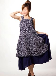 Layered dress with pinafore, nice easy lines.