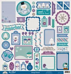 Frosty Friends Launch & Giveaway by Doodlebug Design - check out the Frosty Friends This & That Sticker sheet