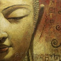 """""""Helping a parent makes you their child, helping a sibling makes you a brother or a sister, helping a friend makes you a good friend, but helping a stranger; that is what makes you human"""" ~ Evy Michaels ♥ lis Buddha Face, Buddha Zen, Gautama Buddha, Abstract Canvas, Oil Painting On Canvas, Canvas Wall Art, Buda Painting, Buddha Kunst, Buddha Canvas"""