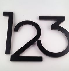 Modern House Number. Eight inches tall in Black.. $17.00, via Etsy.