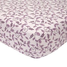 "Lambs & Ivy® Butterfly Bloom Purple Vine Fitted Crib Sheet - Lambs & Ivy - Babies ""R"" Us"