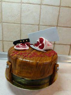 Butcher fondant cake