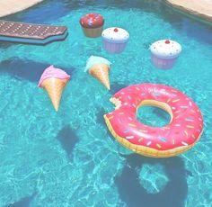 Pool toy goals.