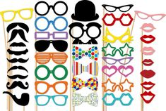 Wedding Photobooth Party - 40 Piece Party Set - Photo Booth Props - Birthday on Etsy, $45.00