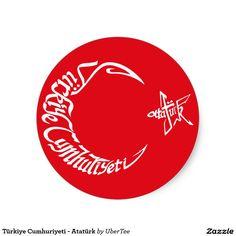 Türkiye Cumhuriyeti - Atatürk Classic Round Sticker  #cumhuriyeti, #turkey, #ataturk, #atatürk, #mustafa, #kemal, #turkish, #republic, #flag, #bayrağı, #pride, #empire, #türkei, #crescent, #star #sticker