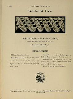 Vintage lacy edging pattern   . . . .   ღTrish W ~ http://www.pinterest.com/trishw/  . . . .   #crochet