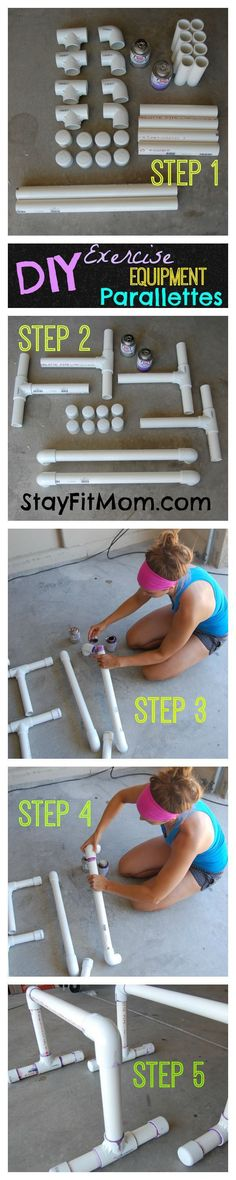 DIY paralettes - we may need to make these this summer No Equipment  Workout a7756a4dbe7