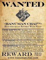Wanted: Hanuman Chai!