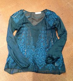 Blissful blue Boho blouse from Johnny Was.