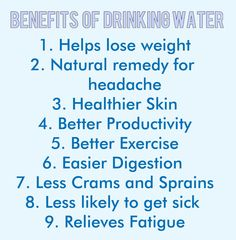 Benefits of drinking water :)  Want to see how well you are doing with your nutritional habits? Get your FREE No Obligation Wellness Evaluation TODAY! www.WellnessScore.co.uk