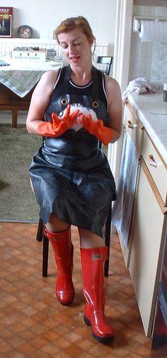 id: 4803708778 # H & MRaincoatWomens - H&M Raincoat Womens - Damenschuhe Yellow Raincoat, Raincoats For Women, Jackets For Women, Plastic Aprons, Pvc Apron, Rubber Raincoats, Wellies Boots, Rain Boots, Home