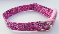 Pink Bandana Adjustable Collar Made to order by JinsK9Kreations