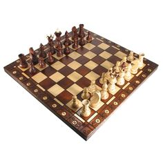 "21"" Polish Ambassador Folding Chess Set"