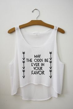 May the odds be ever in your favor Crop Top – Hipster Tops