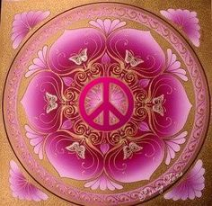 ☮ American Hippie Psychedelic Art ~ Peace Sign Mandala