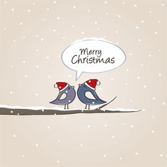 Christmas Birds Vector Graphic - DryIcons