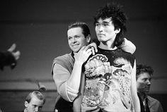 Борис Гребенщиков и Виктор Цой, 1983 год.